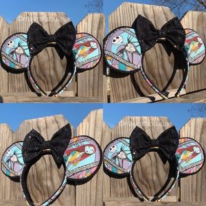 The Nightmare Before Christmas Jack and Sally Ears